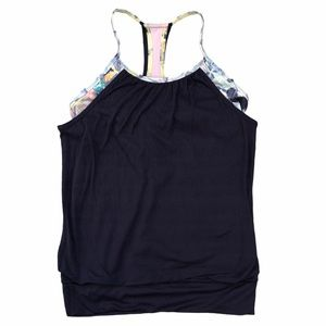 IVIVVA Navy Blue Double Dutch Tank Top